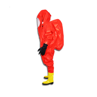 Fully Encapsulating Chemical Protective Suit For Firefighter Gas Tight Suits