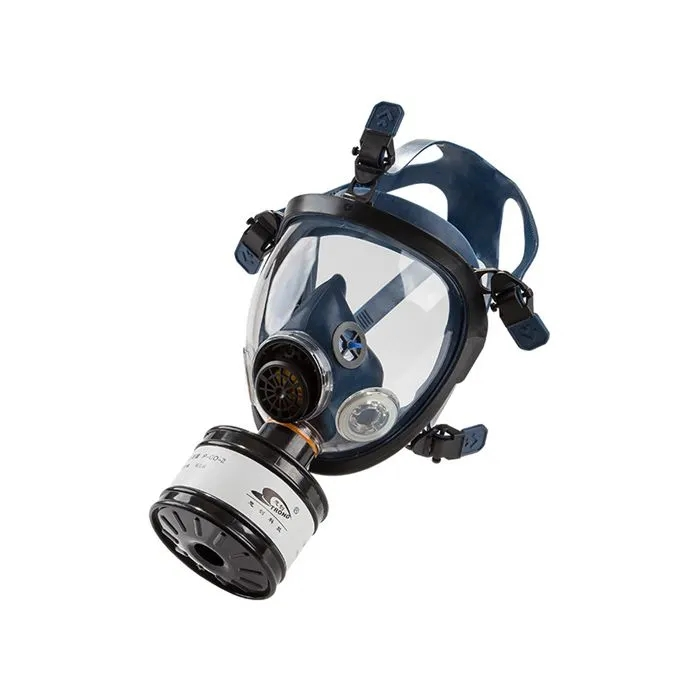 Clear Face Chemical Gas Dust Mask with Filter